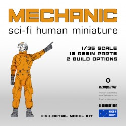 1/35 sci-fi mechanic miniature from the 5DR kit
